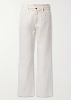 Veronica Beard Blake High-rise Straight-leg Jeans