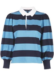 Veronica Beard block striped polo shirt