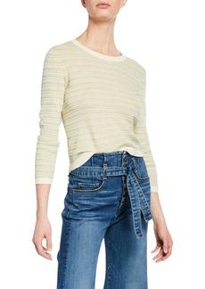 Veronica Beard Boise Striped Bracelet-Sleeve Sweater