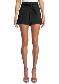 Veronica Beard Borneo Belted High-Rise Shorts