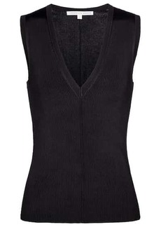 Veronica Beard Brie ribbed-knit sweater vest