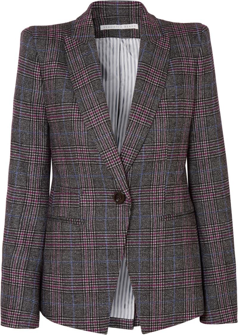 Veronica Beard Brock Dickey Checked Wool-blend Blazer