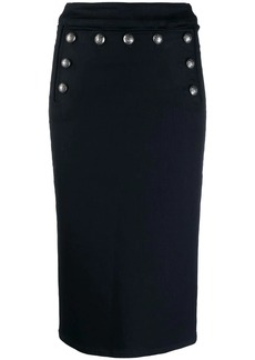 Veronica Beard button denim skirt