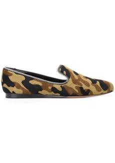 Veronica Beard camouflage print loafers