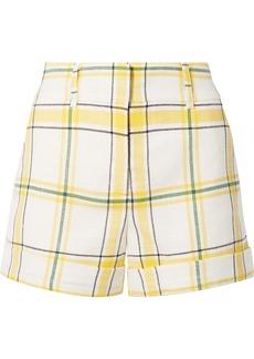 Veronica Beard Carito Checked Piqué Shorts