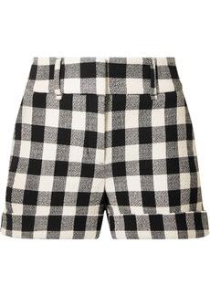 Veronica Beard Carito Gingham Cotton-blend Shorts