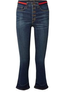 Veronica Beard Carolyn Cropped High-rise Flared Jeans