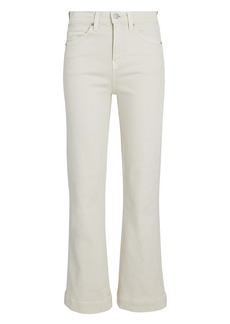 Veronica Beard Carson High-Rise Ankle Flare Jeans