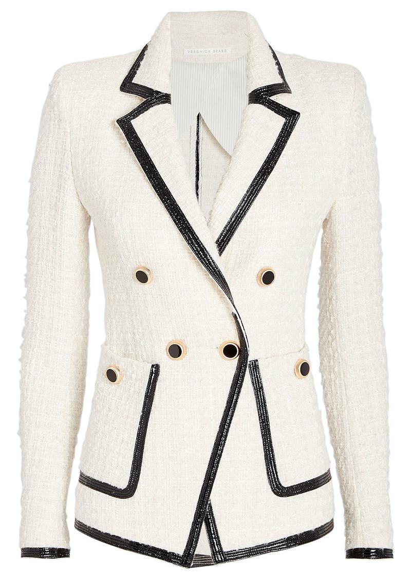 Veronica Beard Cato Double Breasted Tweed Blazer