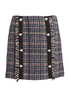Veronica Beard Celie Tweed Mini Skirt