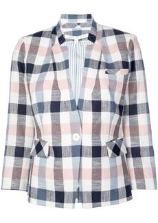 Veronica Beard single-breasted check blazer