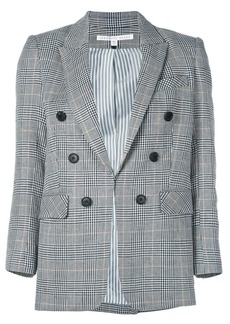 Veronica Beard checked print blazer