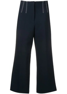 Veronica Beard contrast stitch cropped trousers