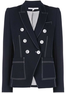 Veronica Beard contrast stitching blazer