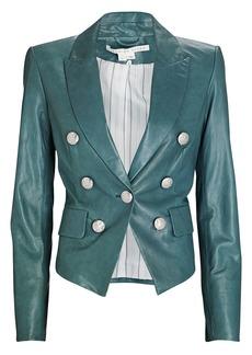 Veronica Beard Cooke Leather Dickey Blazer