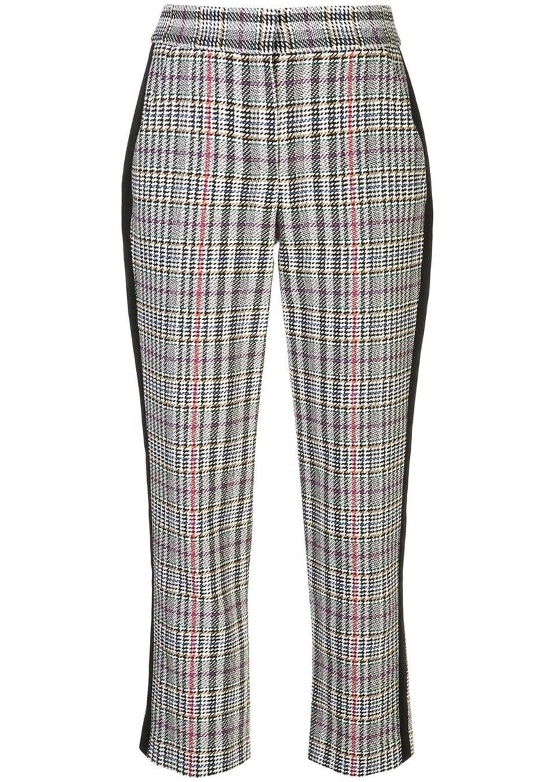 Veronica Beard cropped houndstooth print trousers