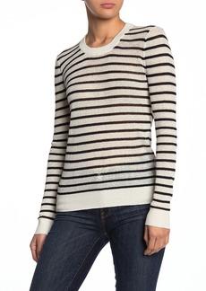 Veronica Beard Dean Linen Blend Stripe Sweater