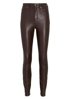 Veronica Beard Debbie Vegan Leather Skinny Jeans