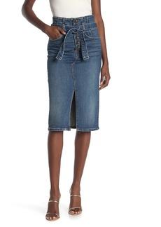 Veronica Beard Denton Denim Corset Skirt