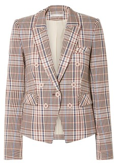 Veronica Beard Diego Dickey Double-breasted Houndstooth Cotton-blend Blazer