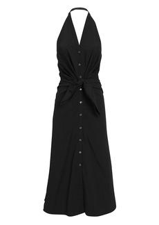 Veronica Beard Disa Halter Midi Dress