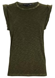 Veronica Beard Dree Cotton Muscle T-Shirt