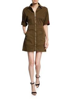 Veronica Beard Dublin Zip-Front Utility Dress