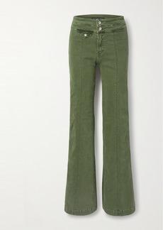 Veronica Beard Ember High-rise Wide-leg Jeans