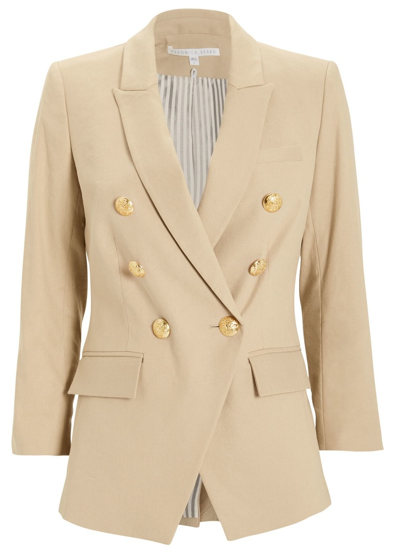 Veronica Beard Empire Double Breasted Dickey Blazer
