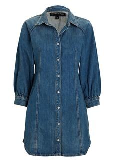 Veronica Beard Estee Chambray Mini Shirt Dress
