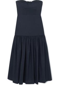 Veronica Beard Fiore Strapless Linen-blend Midi Dress