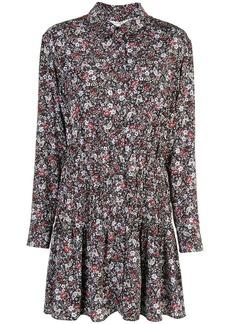 Veronica Beard floral print mini shirt dress