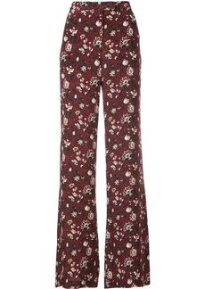 Veronica Beard floral print trousers