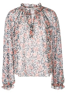 Veronica Beard floral printed blouse