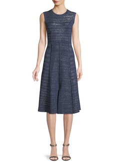 Veronica Beard Foley Sleeveless Metallic Midi Dress