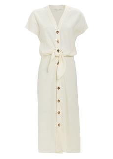 Veronica Beard Giani Button Front Midi Dress