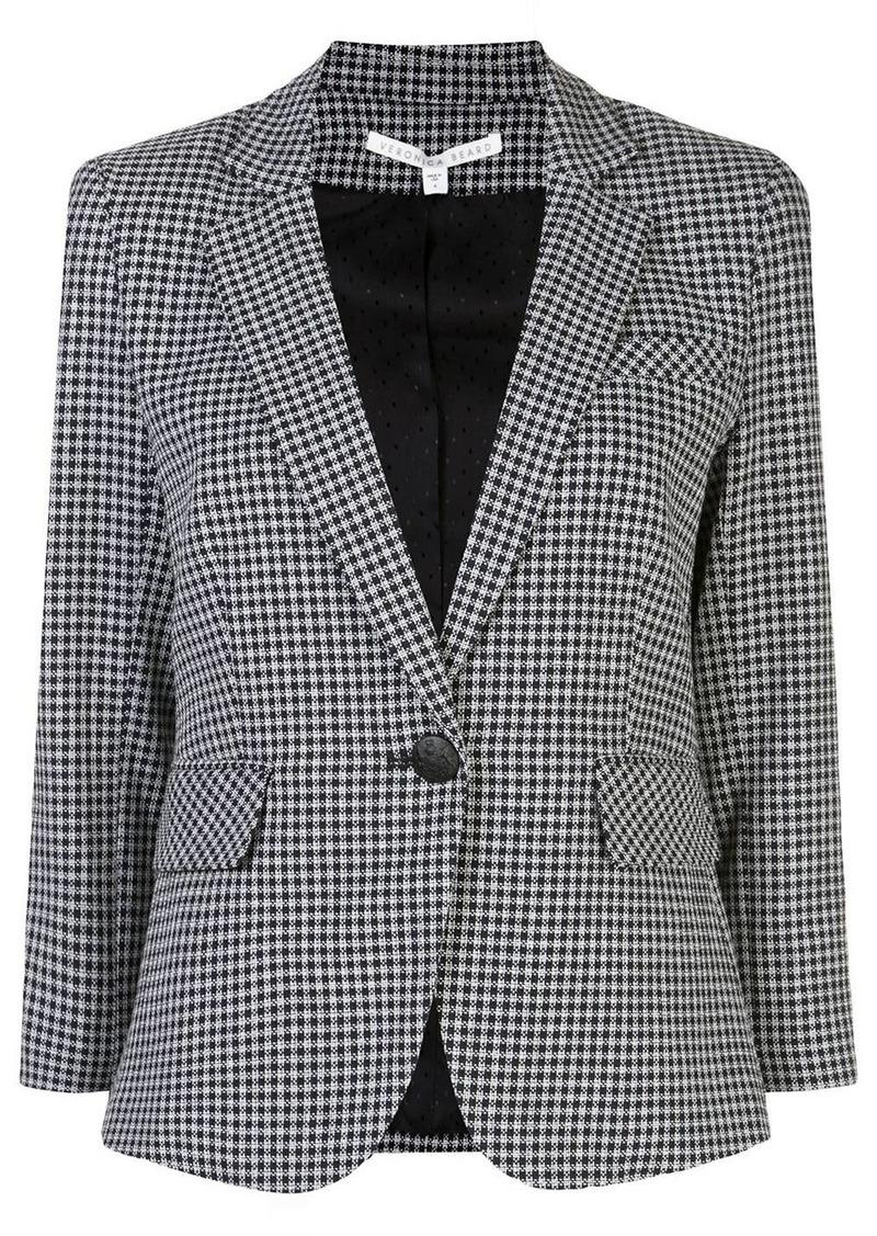 Veronica Beard gingham print blazer