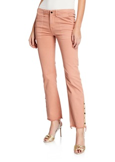 Veronica Beard Gisela Straight-Leg Ankle Pants w/ Side Vents