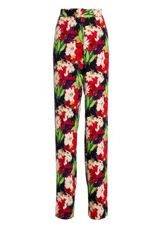 Veronica Beard Grigore Floral Wide Leg Pants