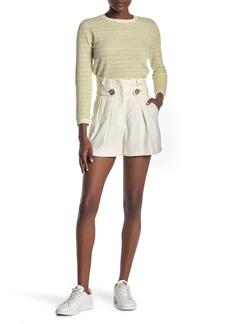 Veronica Beard Gwen Linen Blend Pleated Shorts (Regular & Plus Size)
