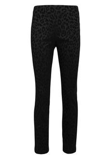 Veronica Beard Honolulu Leopard Jacquard Trousers