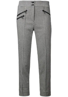 Veronica Beard houndstooth cropped trousers