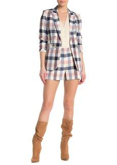 Veronica Beard Ilene Checkered Shorts