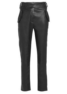 Veronica Beard Jania Leather Trousers