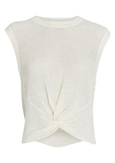 Veronica Beard Kellen Sleeveless Twist Front Sweater