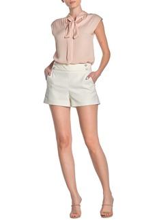 Veronica Beard Kimm Button Trim Shorts