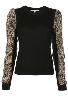 Veronica Beard knitted snakeskin print top