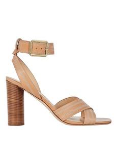 Veronica Beard Kresbey Contrast Stitch Sandals
