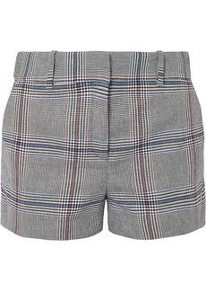 Veronica Beard Lena Prince Of Wales Checked Cotton-blend Shorts