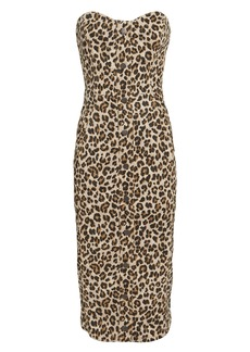 Veronica Beard Liza Leopard Denim Dress